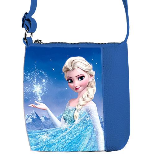 Синяя сумка для доченьки с рисунком Эльза Frozen