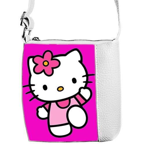 31083dd97109 Белая детская сумочка для девочки Little princess с принтом Хелло Китти