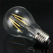 E27 4W белый/теплый белый початок LED накаливания ретро щелочных луковицы 85-265, фото 3