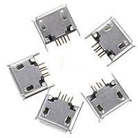 5 штук микро USB типа женщины наклонение 5pin разъем джек пайки