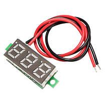3шт Geekcreit® Зеленый 0,28 дюйма 2.6V-30V Мини цифровой вольтметр тестер напряжения Meter, фото 2