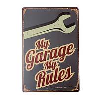 Мой гараж жестяная вывеска старинные металлические бляшки плакат Пивной бар дома стены декор