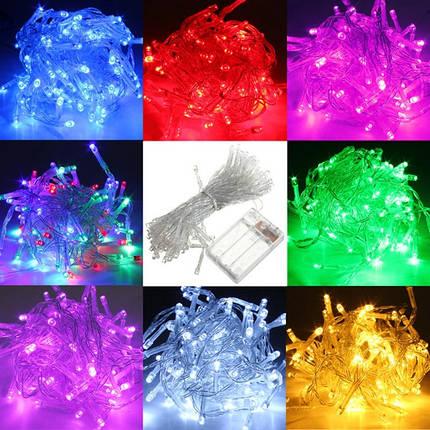 10м от батареи 100 LED звездное фея строка свет лампы Рождество свадьба,лампы, фото 2