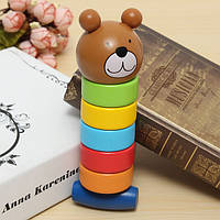 2 в 1 дерева медведя ярким башня образование детей творческий игрушку многоцветной