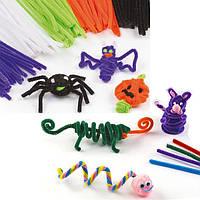 Дети раннего образования DIY Multicolor Iron Wool Plush Провод Гибкая флокирующая труба Flocking Волосы Toy