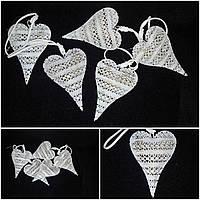Новогодняя подвеска на елку, металл, выс.10 см., 45/40 (цена за 1 шт. + 5 гр.)