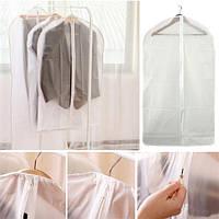 PEVA складной полупрозрачный ясно моющейся пальто костюмы одежда одежда защитный чехол сумка для хранения