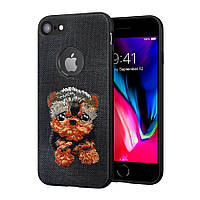 Чехол накладка Dog для iPhone 7 Black