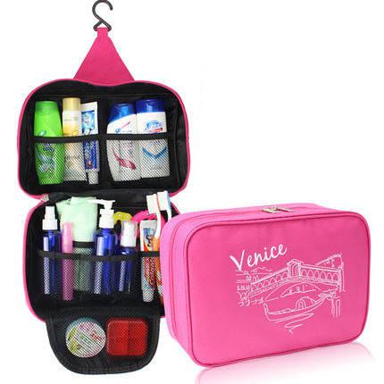 Водонепроницаемый хранение дорожная сумка туалетных мыть макияж случай косметический мешок висит организатор, фото 2