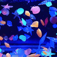 Аквариум пейзаж свечения камней аквариум световой камень украшает рыба черепаха бак