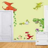 DIY съемные Парк динозавров пропуск дома дети спальня декор стен наклейка обоев