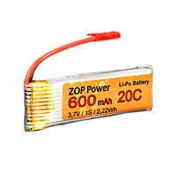ZOP питания 3.7V 600mah 20c Lipo батареи Jst плагин