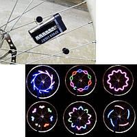 2шт LED мотоцикл велосипед руль сигнал мигающий спиц