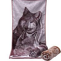 34*73см волки напечатаны хлопок полотенце ванны мягкий абсорбент мочалкой