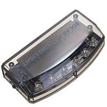 Авто солнечное зарядное устройство LED автомобиль сигнализация предупреждения синий безопасности Датчик света, фото 3