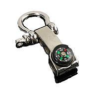Регулируемая выживания paracord нержавеющая пряжка с компасом рыбалка инструмент