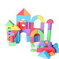 60шт детские детские безопасные мягкие buliding блоками пены классические укладки развивающие игрушки