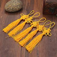 10шт желтый ручной вязки китайский узел кулон подарок торжество поставки автомобиля подвеска