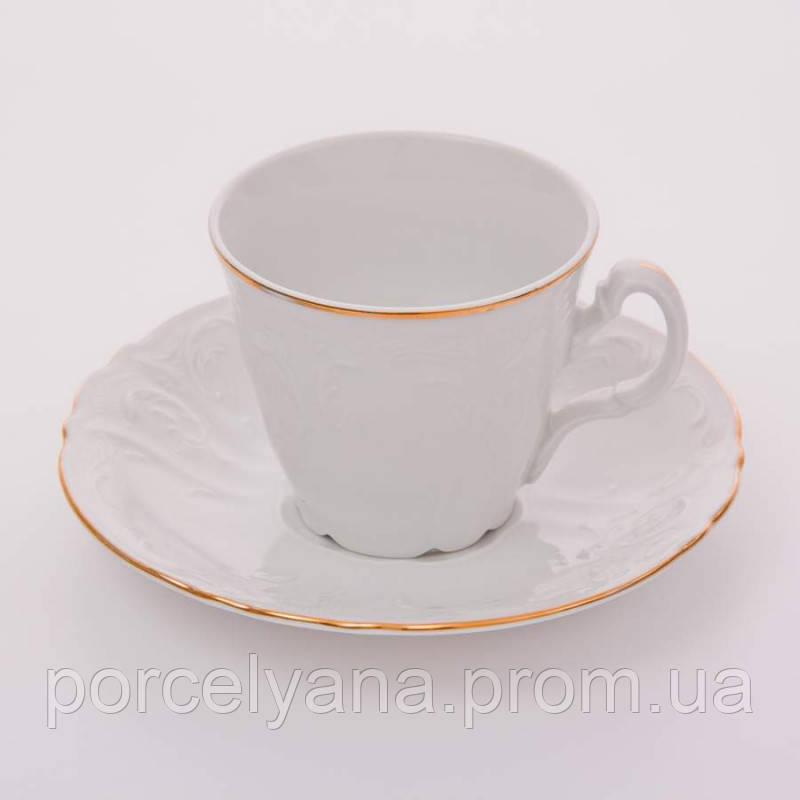 Фарфоровый кофейный сервиз 12прBernadotte золото