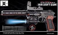 Пистолет P2117-A  на батарейках, пульки, в коробке 26*16 см.