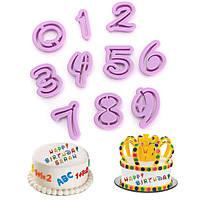 Пластик Количество Cookie Cutter печенье помады пресс-формы для украшения торта