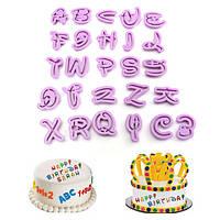 26pcs пластиковых алфавит инструмент для украшения торта печенья письмо печенье помады плесень