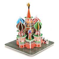 3д пазл собор Василия Блаженного мини DIY модель b668-16
