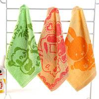 25*25см чистый хлопок носовой платок шаржа детские салфетки лицо банное полотенце