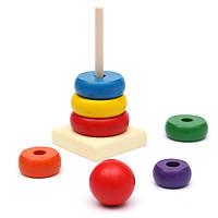 Дети детские игрушки деревянные укладка кольцо башни образовательные игрушки радуга складывают игру