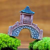 Мини смолы павильон мост микро-пейзаж сада DIY украшения