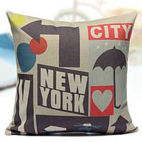 Хлопковое постельное белье Нью-Йорк наволочка диван-кровать автокресло наволочка