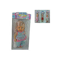 Кукла пьет и писает LD9713A-1  3 вида   в пакете