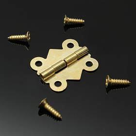1шт утюг бабочка шарнира приклада для мини ящика шкафа шкатулку 20x16mm