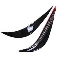 2шт черный Универсальный фронт автомобиль авто автомобиль бампер угол протектор для губ охранник