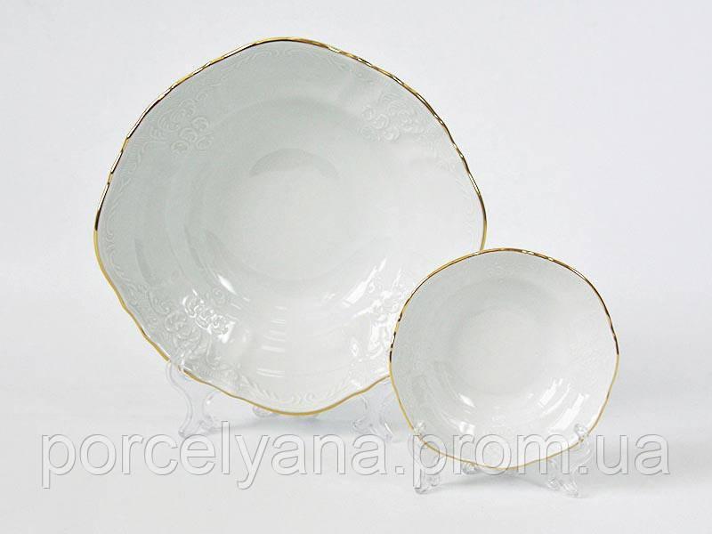Салатница фарфоровая 23см Bernadotte золото