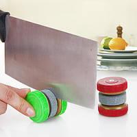 Honana Mini кухонный нож точилка камень истиранием Два шлифовальные круги для заточки инструмента
