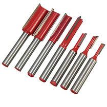 1/4 дюйма прямой хвостовик деревообрабатывающей ножа 1/2 флейта резьбы резцом фрезы, фото 2