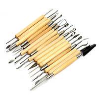 22pcs нержавеющей стали глина инструмент керамика скульптуры деревянная ручка
