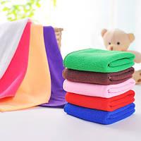 25*25см абсорбент микрофибры полотенце стороны мягкий ванной мочалкой