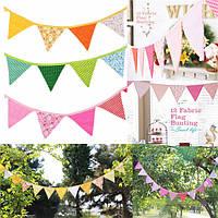 Милые ручной работы ткань флаги овсянки вымпелы свадьба день рождения флага украшения партия овсянка