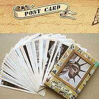 32pcs заветной классические известные европы здание поздравительные открытки карты карты poscards