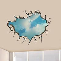 3d небо наклейки для стен потолков отверстие в стене арт наклейки 22-дюймовые съемные домашнего декора