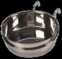 Миска металлическая навесная на крючках - 600 мл
