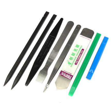 8 в 1 Ремонт открытие монтировку инструмент набор комплект открывалка для сотового телефона, фото 2