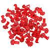 50шт шотландский замок быстрого сращивания 22-18 AWG провод красный разъем