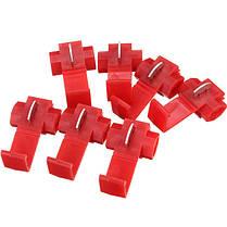 50шт шотландский замок быстрого сращивания 22-18 AWG провод красный разъем, фото 2