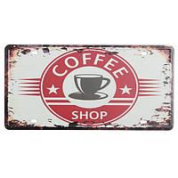 Кофе номерной знак олова старинные металлические бляшки декор плакат паб в стены дома