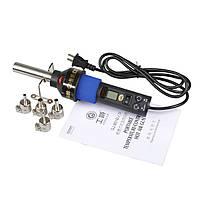 8018lcd 110v нам подключить 450 градусов ЖК-регулируемый электронный тепло фена IC СМД BGA распайки станции с-1TopShop