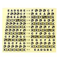 Guitar Шея Fretboard Note Map Fret Sticker Lables Наклейки Обучение Finger Board