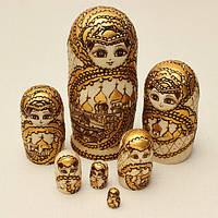 7шт матрешка русская деревянная кукла \ матрешка\ с гравировкой подарочные модели
